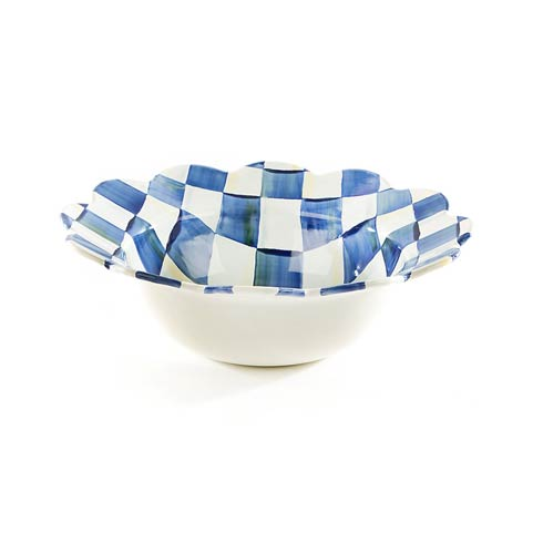 MacKenzie-Childs Royal Check Tabletop Petal Serving Bowl $68.00