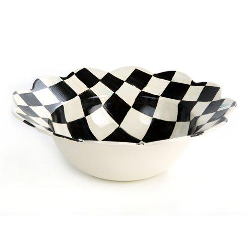 MacKenzie-Childs Courtly Check Tabletop Enamel Petal Serving Bowl $74.00