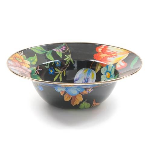 MacKenzie-Childs Flower Market Tabletop Serving Bowl - Black $68.00