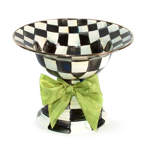 MacKenzie-Childs Courtly Check Decor Enamel Compote - Large $158.00
