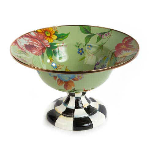 MacKenzie-Childs Flower Market Tabletop Large Compote - Green $178.00