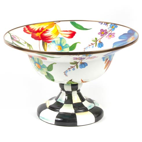 MacKenzie-Childs  Flower Market  Large Compote - White $158.00