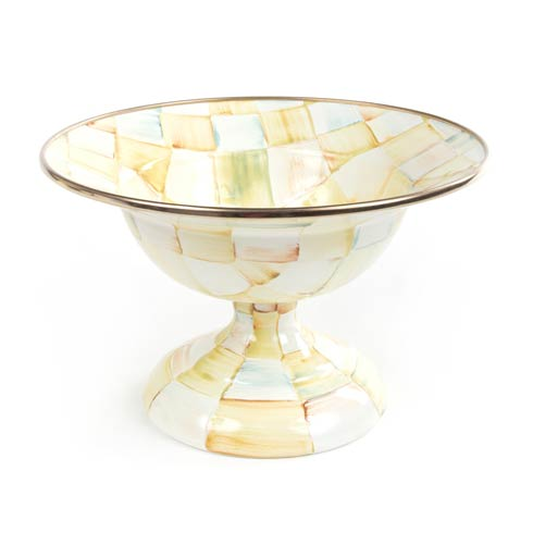 MacKenzie-Childs  Parchment Check Enamel Compote - Small $80.00