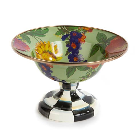 $98.00 Flower Market Small Compote - Green