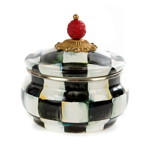MacKenzie-Childs Courtly Check Kitchen Enamel Squashed Pot $88.00