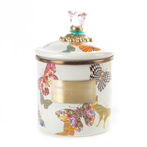 MacKenzie-Childs  Butterfly Garden Small Canister - White $80.00