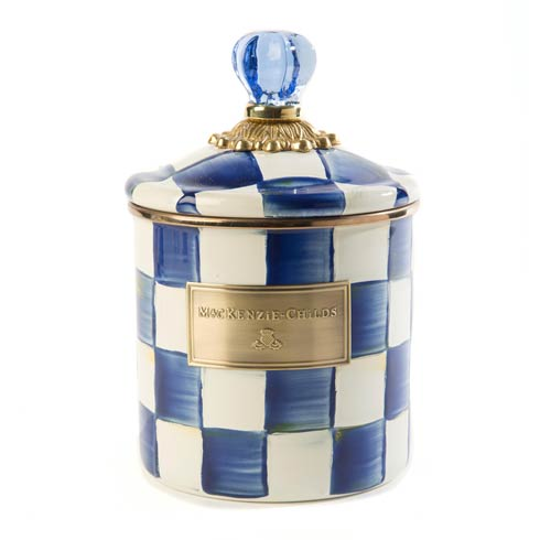 MacKenzie-Childs Royal Check Kitchen Canister - Small $92.00