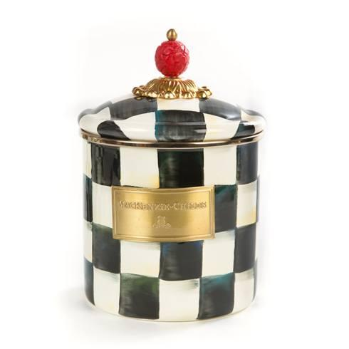 MacKenzie-Childs Courtly Check Kitchen Enamel Canister - Small $88.00