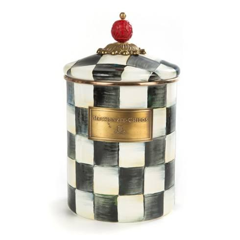 MacKenzie-Childs Courtly Check Kitchen Enamel Canister - Medium $94.00