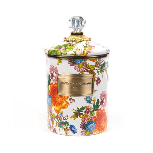 MacKenzie-Childs  Flower Market  Medium Canister - White $84.00