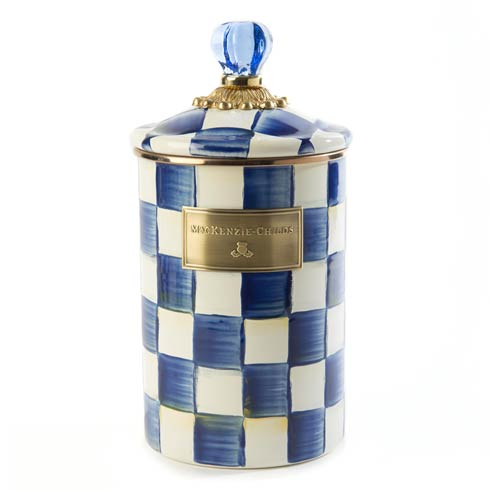 MacKenzie-Childs Royal Check Kitchen Canister - Large $105.00