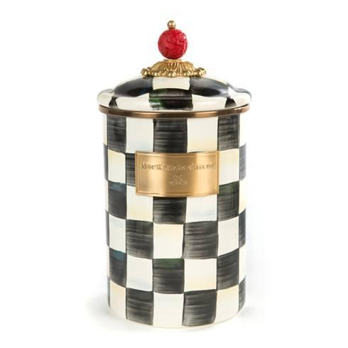 MacKenzie-Childs Courtly Check Kitchen Enamel Canister - Large $98.00