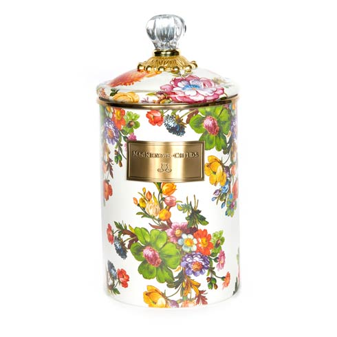MacKenzie-Childs  Flower Market  Large Canister - White $92.00