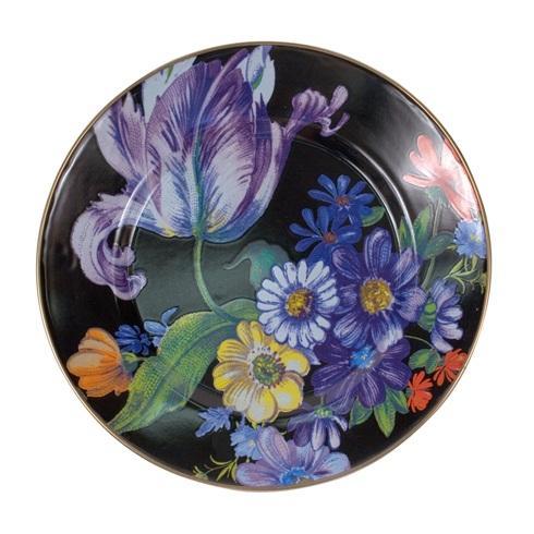 MacKenzie-Childs  Flower Market  Dinner Plate - Black $42.00