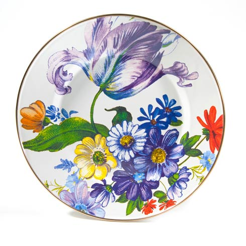 MacKenzie-Childs  Flower Market  Dinner Plate - White $45.00
