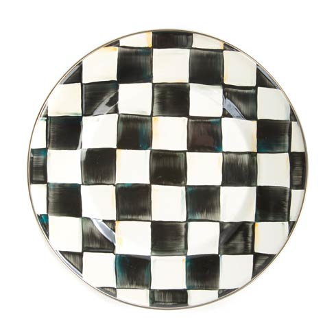 MacKenzie-Childs Courtly Check Tabletop Enamel Dinner Plate $48.00
