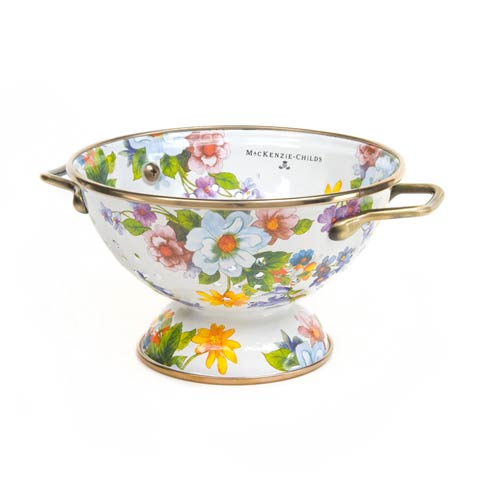 MacKenzie-Childs  Flower Market  Small Colander - White $58.00