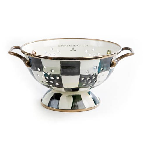 MacKenzie-Childs Courtly Check Kitchen Enamel Colander - Small $68.00