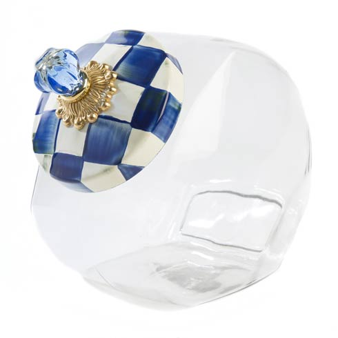$68.00 Cookie Jar With Royal Check Enamel Lid