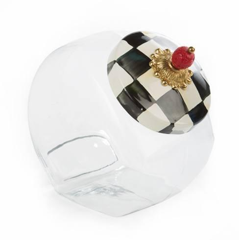 MacKenzie-Childs  Courtly Check Cookie Jar w/ Courtly Check Enamel Lid $58.00