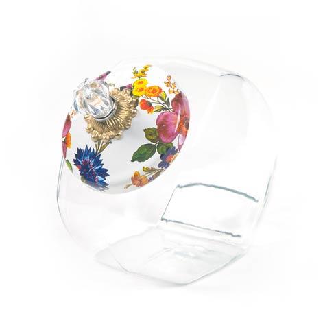 $68.00 Cookie Jar With Flower Market Enamel Lid - White