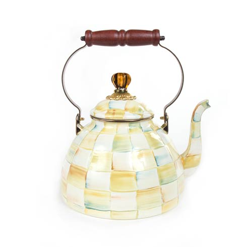 MacKenzie-Childs  Parchment Check Enamel Tea Kettle - 3 Quart $140.00