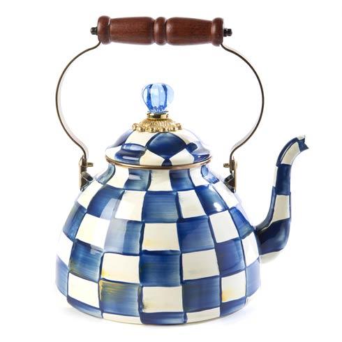 MacKenzie-Childs Royal Check Kitchen Royal Check Tea Kettle - 3 Quart $168.00