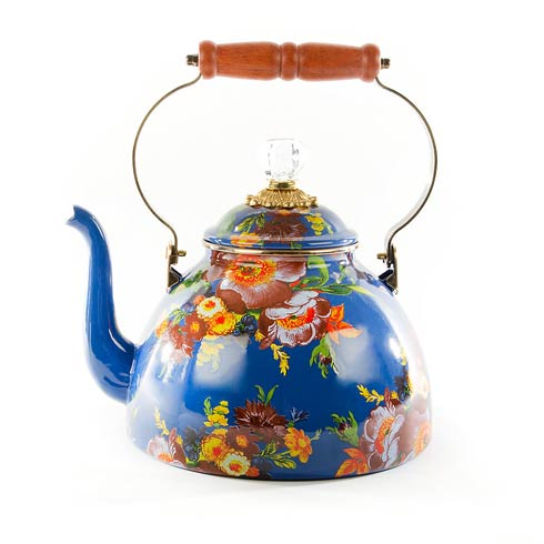 $158.00 Tea Kettle - 3 Quart - Lapis