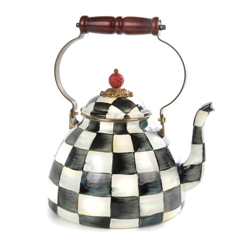 MacKenzie-Childs Courtly Check Tabletop Enamel Tea Kettle - 3 Quart $150.00