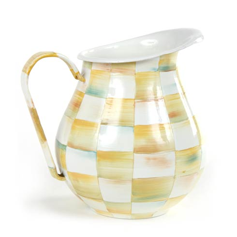 MacKenzie-Childs  Parchment Check Enamel Pitcher $82.00