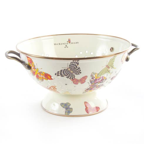 MacKenzie-Childs  Butterfly Garden Large Colander - White $80.00