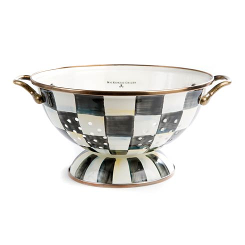 MacKenzie-Childs Courtly Check Kitchen Enamel Colander - Large $82.00
