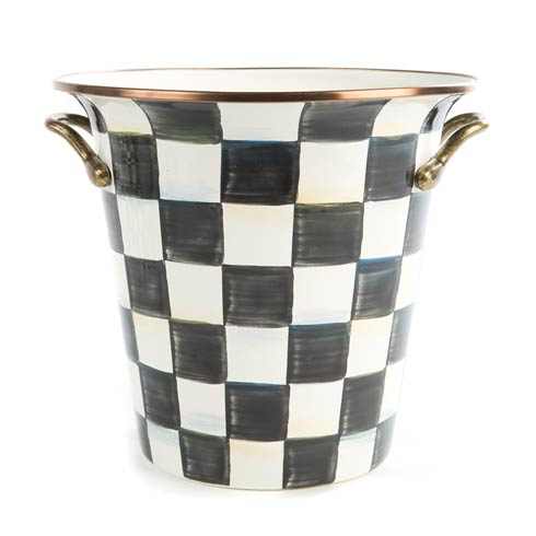 MacKenzie-Childs Courtly Check Tabletop Enamel Wine Cooler $88.00