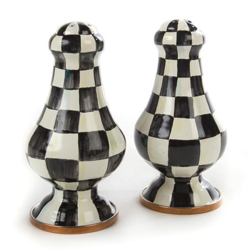 MacKenzie-Childs  Courtly Check Enamel Large Salt & Pepper Shakers $115.00