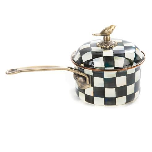 MacKenzie-Childs  Courtly Check Enamel 2.5 Qt. Saucepan $145.00