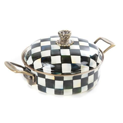 MacKenzie-Childs  Courtly Check Enamel 3 Qt. Casserole $175.00