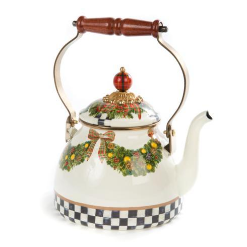 Evergreen Enamel Tea Kettle - 2 Quart image