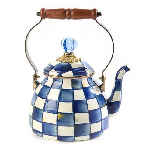 MacKenzie-Childs Royal Check Kitchen Royal Check Tea Kettle - 2 Quart $135.00