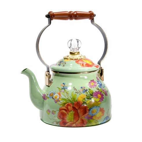 MacKenzie-Childs  Flower Market  2 Quart Tea Kettle - Green $110.00