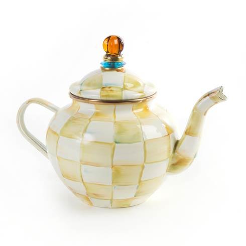 MacKenzie-Childs  Parchment Check Enamel Teapot - 4 Cup $92.00