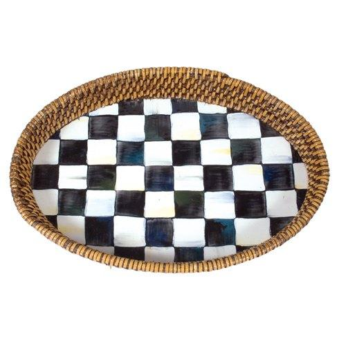 MacKenzie-Childs  Courtly Check Rattan & Enamel Tray - Small $70.00