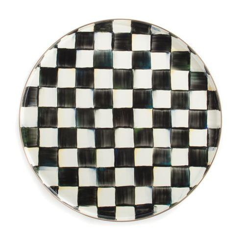 MacKenzie-Childs Courtly Check Tabletop Enamel Round Tray $68.00