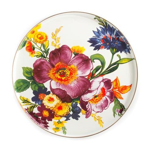 MacKenzie-Childs  Flower Market  Round Tray - White $65.00