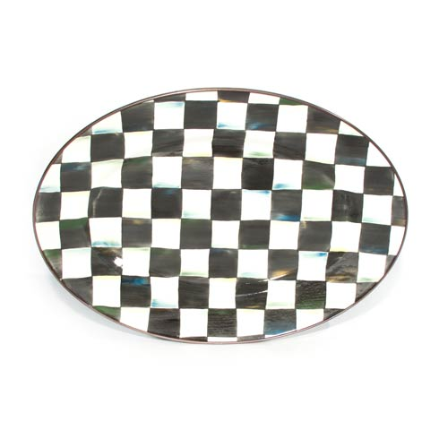 MacKenzie-Childs Courtly Check Tabletop Enamel Oval Platter - Small $120.00