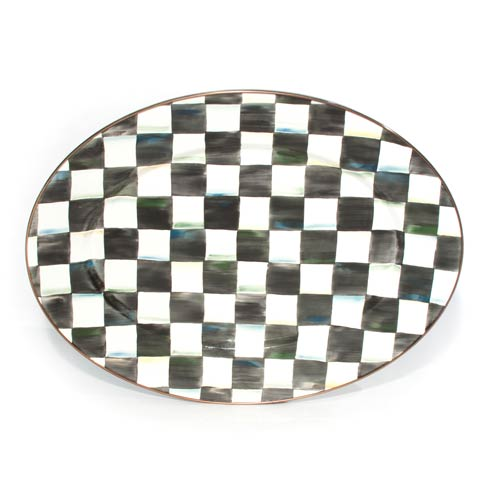 MacKenzie-Childs  Courtly Check Enamel Oval Platter - Medium $140.00