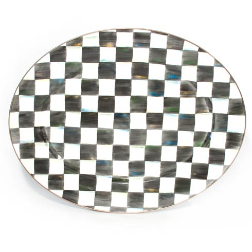 MacKenzie-Childs  Courtly Check Enamel Oval Platter - Large $180.00