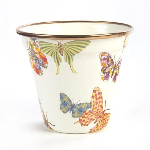 $35.00 Butterfly Garden Pot - White