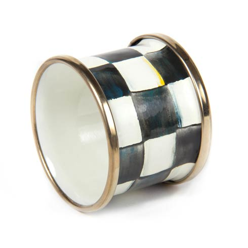 MacKenzie-Childs  Textiles Courtly Check Enamel Napkin Ring $18.00