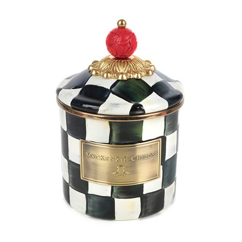 MacKenzie-Childs Courtly Check Kitchen Enamel Canister - Demi $82.00