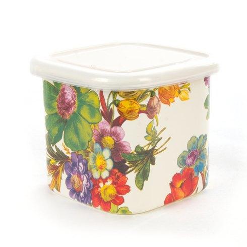 MacKenzie-Childs  Flower Market  Flower Market Deep Small Squarage Bowl - White $36.00